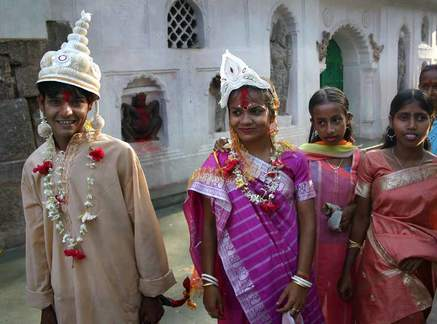 Bride and groom in Assam, India