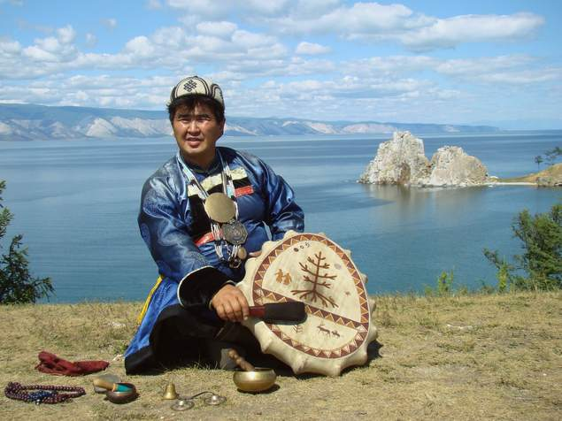 Valentin Hagdaev – head shaman of Olkhon. Lake Baikal. Buryatia, Siberia.