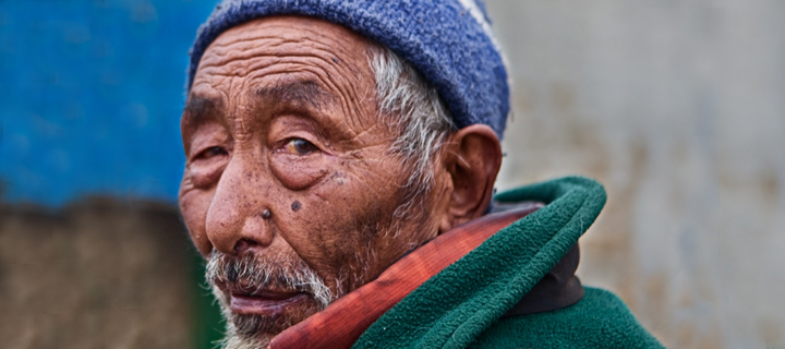 Old Sherpa Man in Nepal