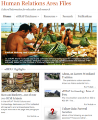 HRAF's launch of a new home page