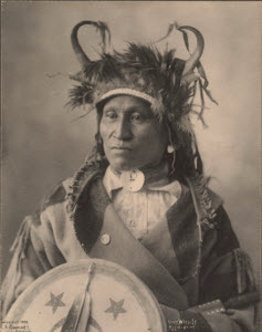 Chief Wets-It, Assiniboine, Photographer: Frank A. Rinehart, Courtesy of Boston Public Library on Creative Commons Flickr
