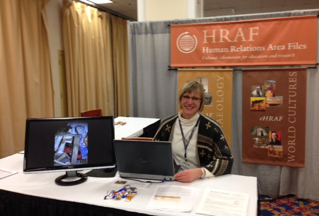 HRAF exhibiting at AAA in Washington, DC