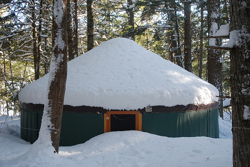snow yurt photo