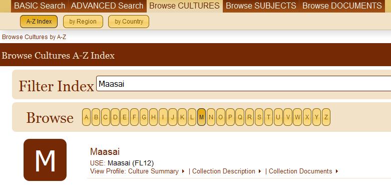 Browse Cultures Maasai