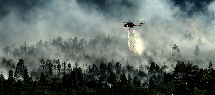 Containment of forest fires in Colorado Springs.