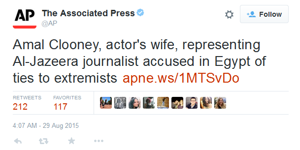 A controversial tweet from the Associated Press causes some outrage among gender equality activists