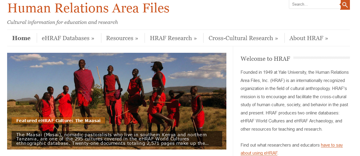 New HRAF homepage launches