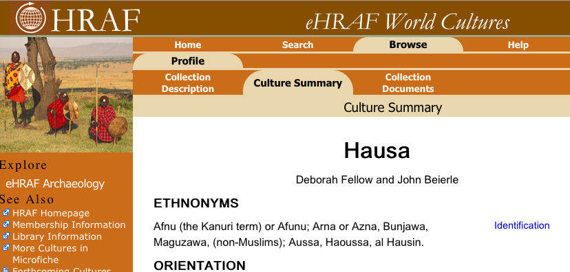 New eHRAF World Cultures application online