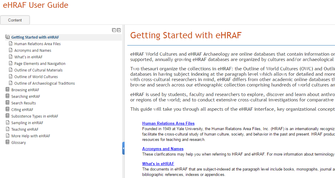 Updated & Redesigned User Guide in eHRAF Databases