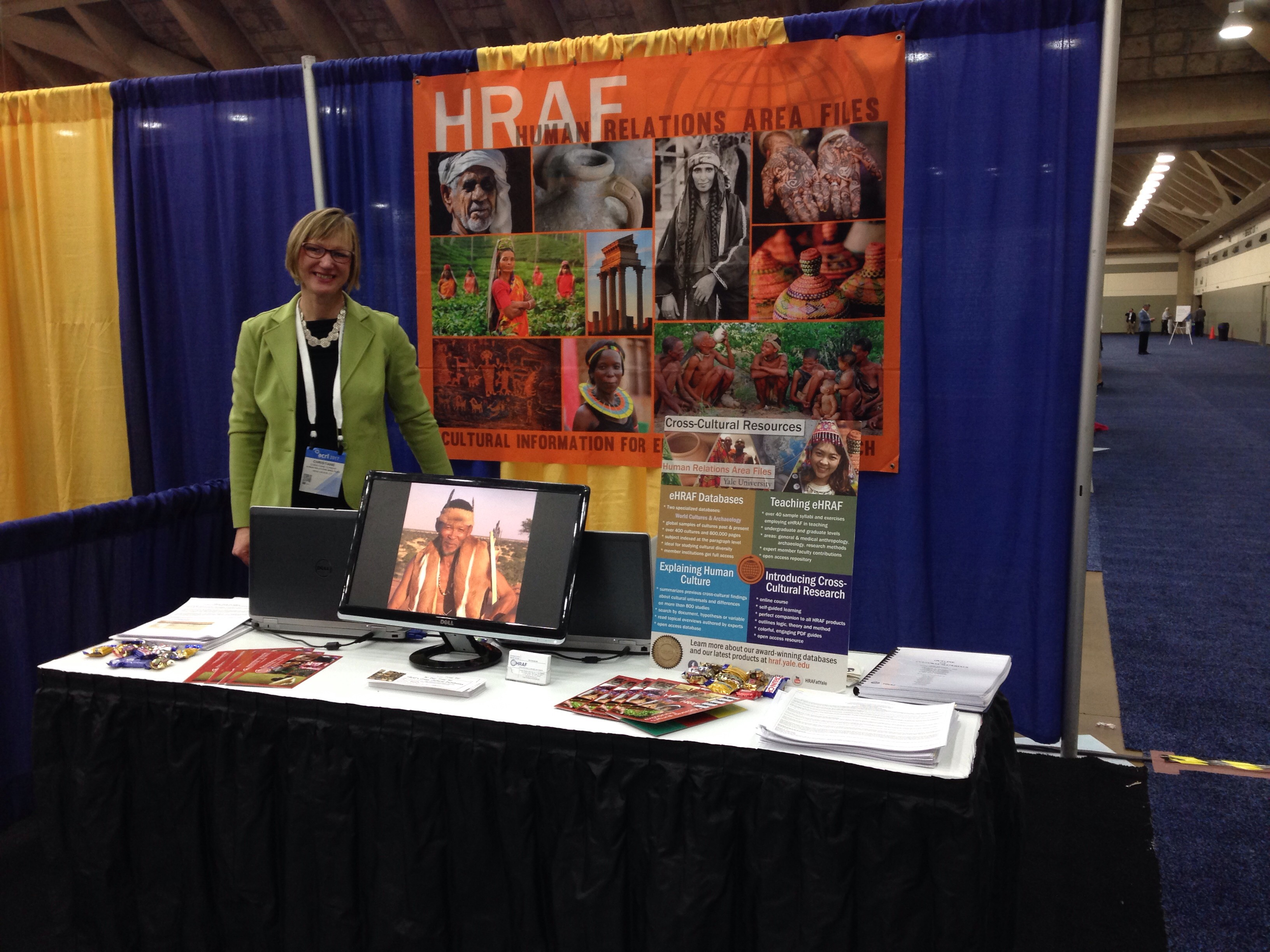 HRAF booth at 2017 ACRL Conference in Baltimore, MD