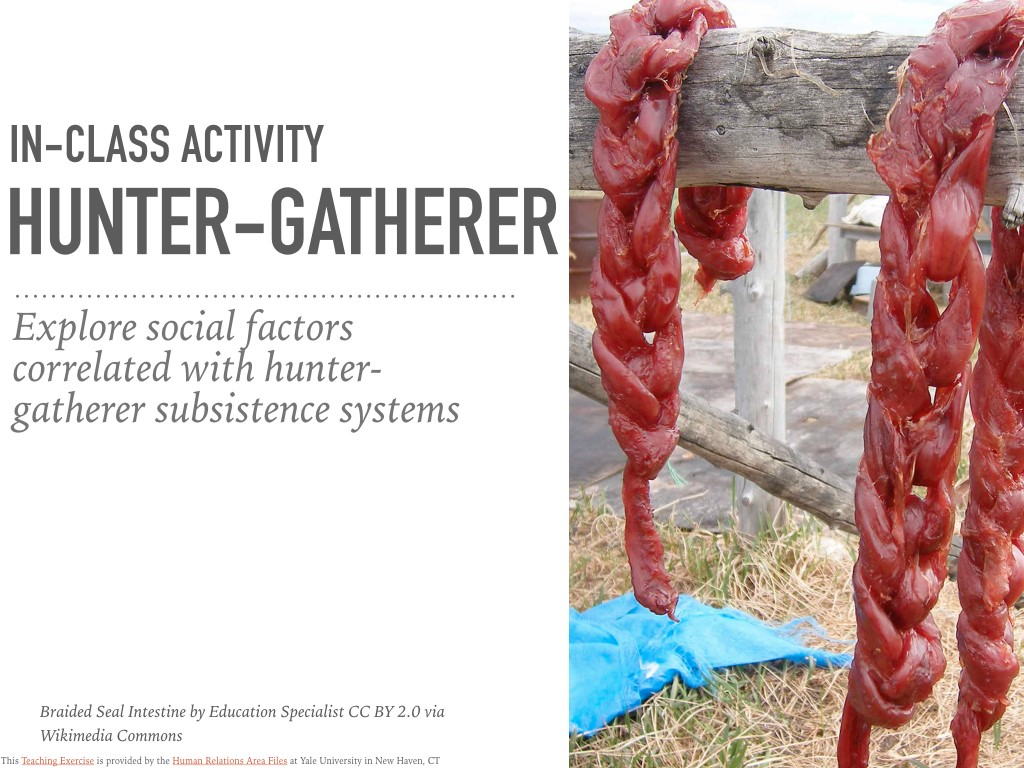 Hunter-Gatherers In-Class Activity
