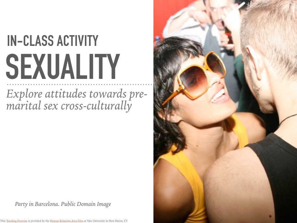 Teaching sexuality classroom activities