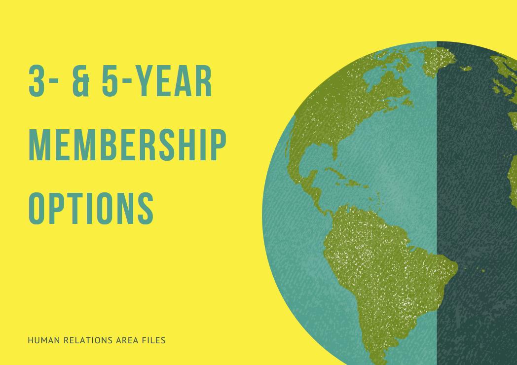 3 & 5 year membership options