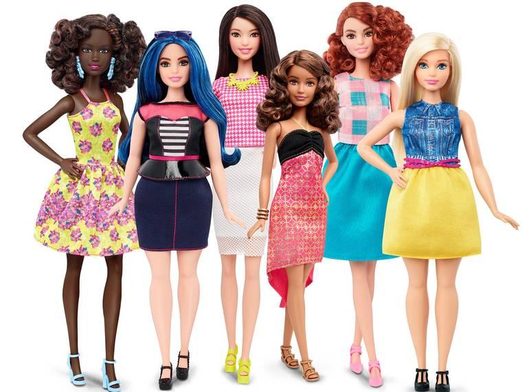 New line up of Barbie dolls. Phaoto: Mattel