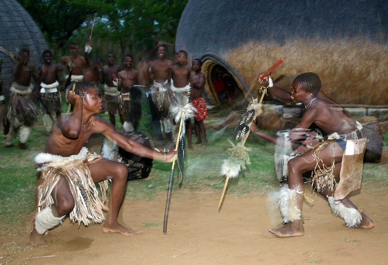 Zulu dancers performing
