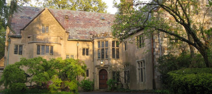 HRAF headquarters, a historic Tudor-style mansion