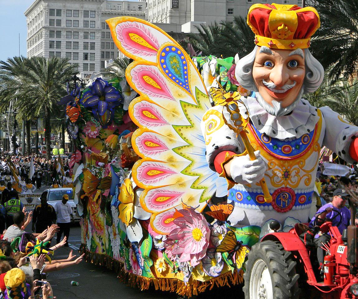 mardi gras procession