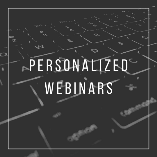 Personalized Webinars icon