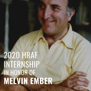 HRAF Welcomes 2020-2021 Melvin Ember Interns