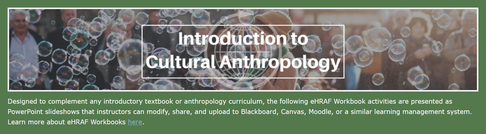 Intro to Cultural Anthropology Workbook