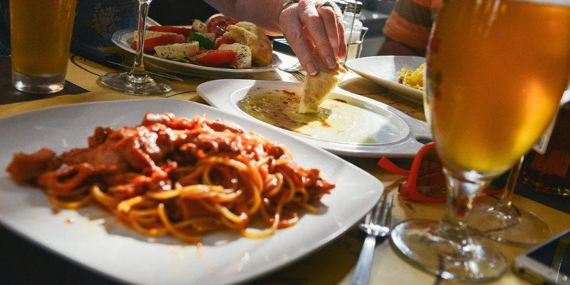 Sharing an Italian meal