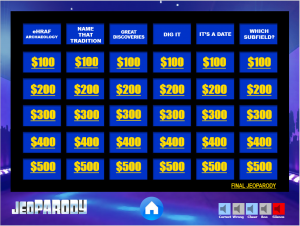 eHRAF Archaeology Jeoparody Game