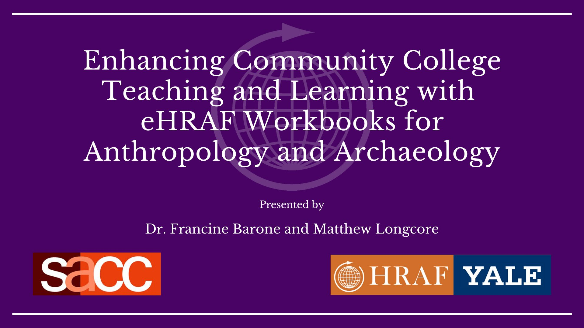 SACC eHRAF Workshop