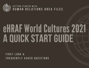 Quick Start Guide for eHRAF World Cultures