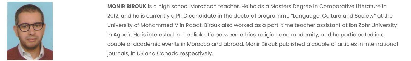 Monir Birouk Bio