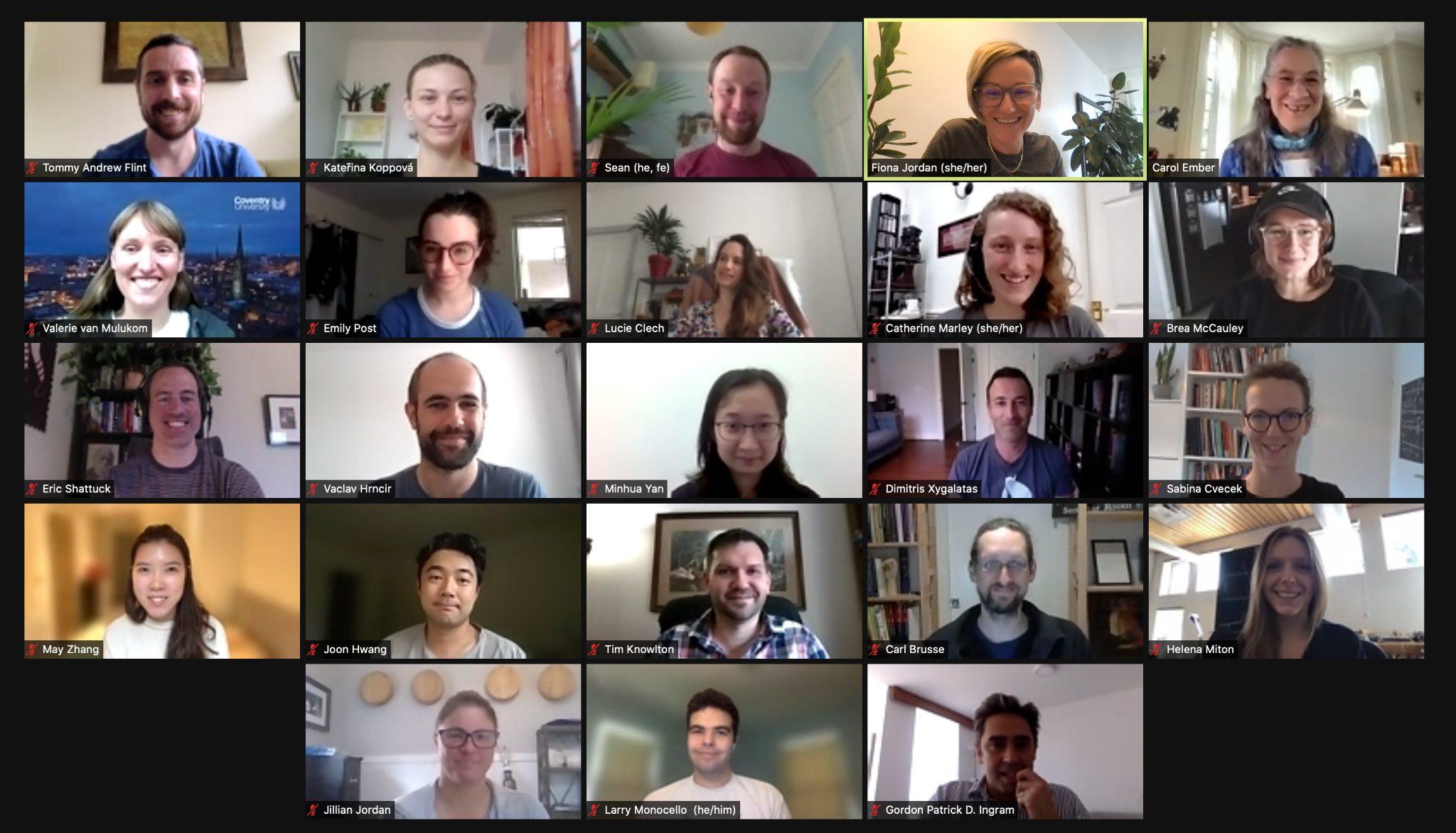 A screenshot of the 2021 Institute cohort