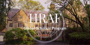 HRAF Global Scholars Program 2022